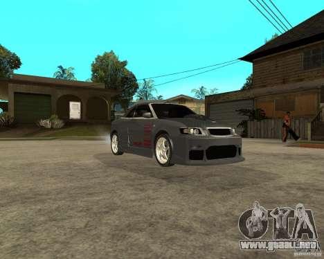 AUDI A4 Cabriolet para GTA San Andreas vista hacia atrás
