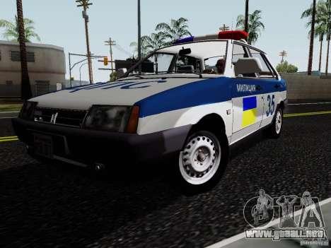 VAZ 21099, policía para la visión correcta GTA San Andreas
