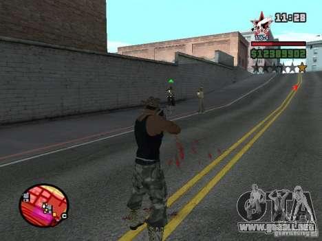 San Fierro and Los Santos Gang Zone para GTA San Andreas sucesivamente de pantalla