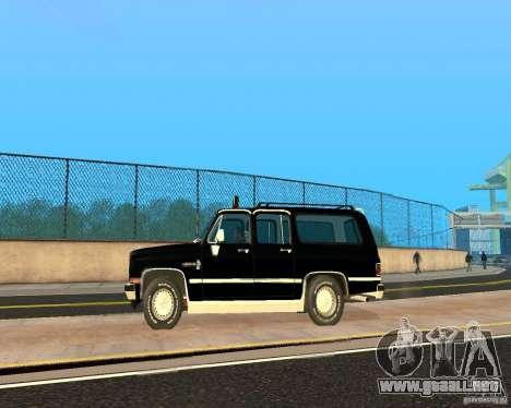 Сhevrolet 1986 suburbano para GTA San Andreas left