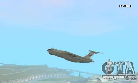 Ilyushin Il-76 MD para GTA San Andreas vista posterior izquierda