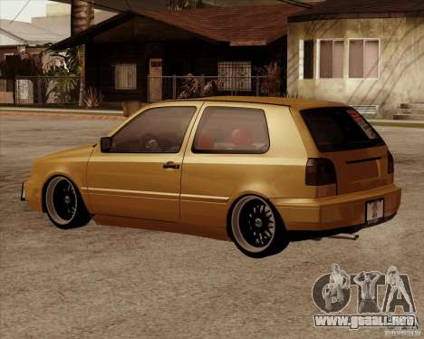 VW Golf MK 4 low & slow para GTA San Andreas left