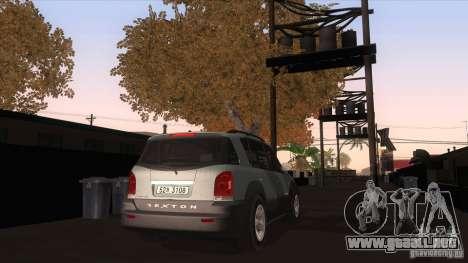 SsangYong Rexton 2005 para la visión correcta GTA San Andreas