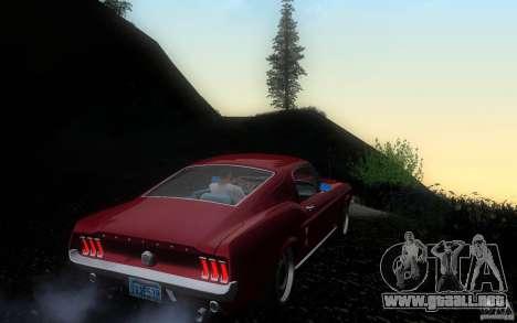 Ford Mustang 1967 American tuning para la visión correcta GTA San Andreas