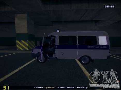 Policía gacela 2705 para la visión correcta GTA San Andreas