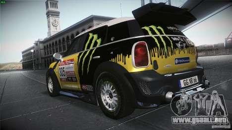 Mini Countryman WRC para GTA San Andreas vista posterior izquierda