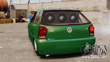 Volkswagen Gol G4 Edit para GTA 4 Vista posterior izquierda