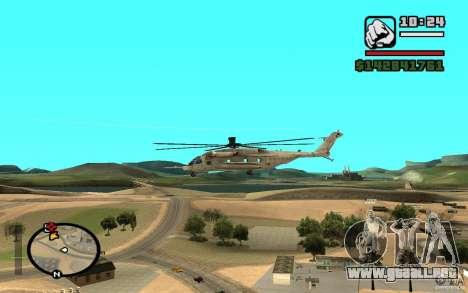 Sikorsky MH-53 con trampilla cerrada para la visión correcta GTA San Andreas