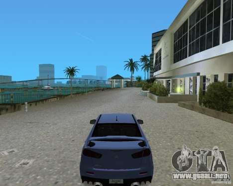 Mitsubishi Lancer Evo X para GTA Vice City vista lateral izquierdo