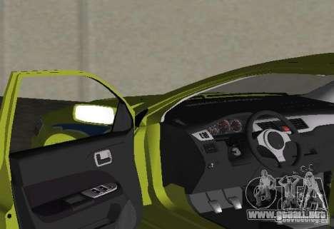 Mitsubishi Lancer Evolution VII para GTA Vice City vista posterior