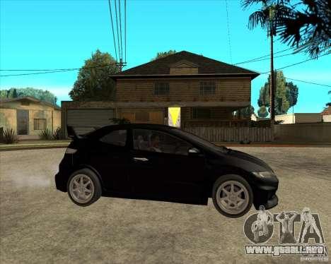 2009 Honda Civic Type R Mugen Tuning para la visión correcta GTA San Andreas