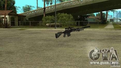 Mk14 EBR con silenciador para GTA San Andreas segunda pantalla