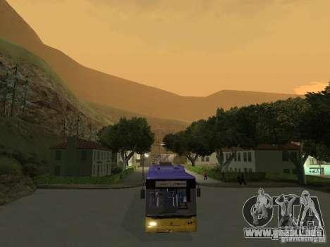 Trolebús LAZ e-183 para la visión correcta GTA San Andreas