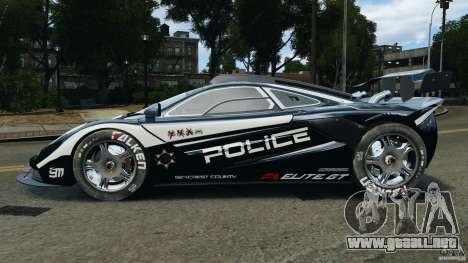 McLaren F1 ELITE Police [ELS] para GTA 4 left