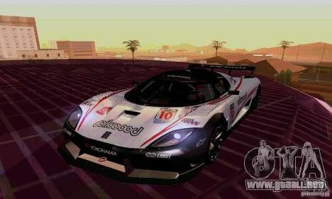 Koenigsegg Agera R para visión interna GTA San Andreas