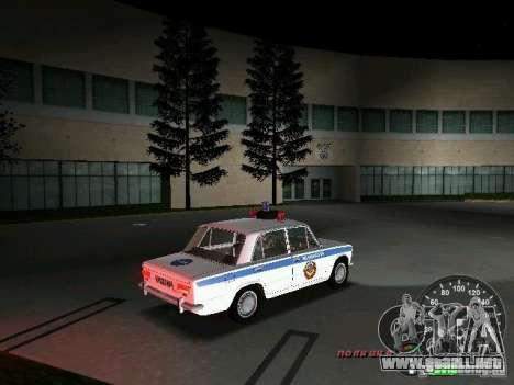 VAZ 2101 policía para GTA Vice City vista posterior
