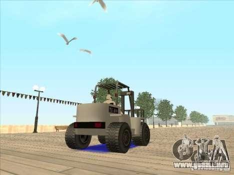 Forklift extreem v2 para visión interna GTA San Andreas