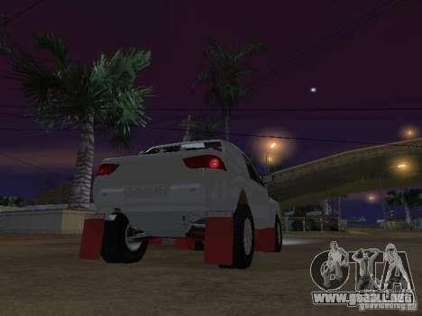 Mitsubishi L200 Triton para GTA San Andreas vista posterior izquierda