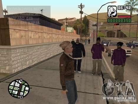 Lucy Stillman in Assassins Creed Brotherhood para GTA San Andreas sucesivamente de pantalla