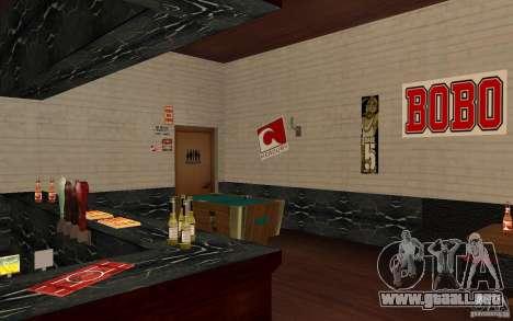 Un nuevo bar en Gantone v. 2 para GTA San Andreas quinta pantalla