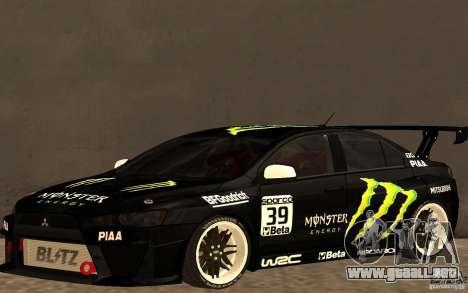 Mitsubishi Lancer Evolution X Monster Energy para GTA San Andreas