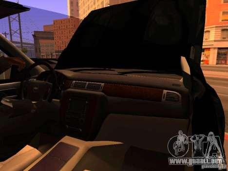 Chevrolet Silverado HD 3500 2012 para vista lateral GTA San Andreas