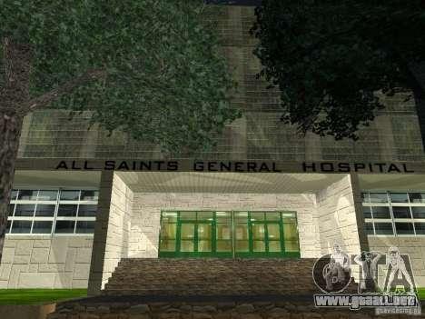 Nuevo hospital Hospital-nuevo para GTA San Andreas tercera pantalla