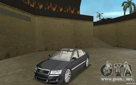 Audi A8 para GTA Vice City left
