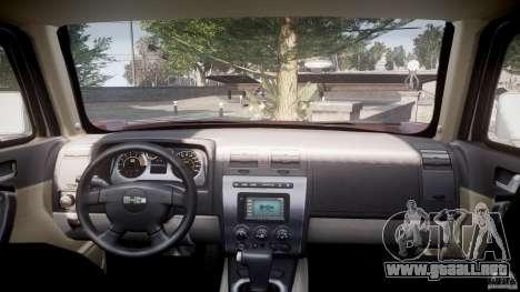 Hummer H3 para GTA 4 visión correcta
