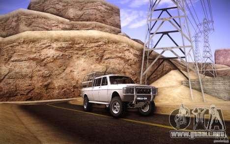 GAZ 2402 4 x 4 PickUp para la vista superior GTA San Andreas