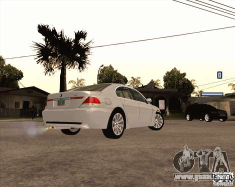 BMW 760i para GTA San Andreas left