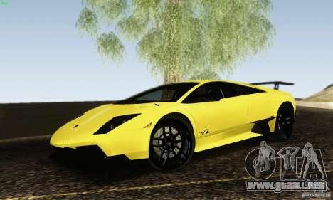 Lamborghini Murcielago LP 670-4 SV para GTA San Andreas left