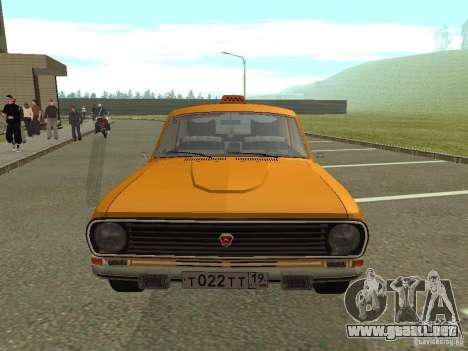 Taxi Volga GAZ 24-10 para GTA San Andreas vista hacia atrás