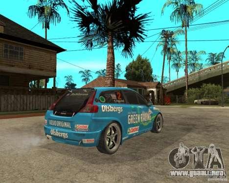 VOLVO C30 STCC para GTA San Andreas vista posterior izquierda