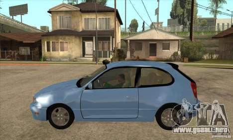 Toyota Corolla G6 Compact E110 US para GTA San Andreas left