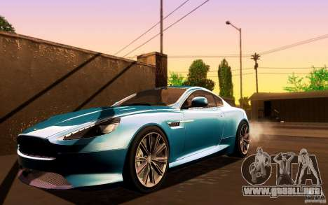 Aston Martin Virage V1.0 para GTA San Andreas left