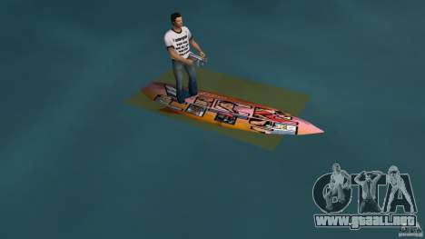Surfboard 1 para GTA Vice City left