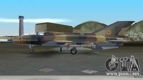 MiG 21 LanceR A para GTA Vice City vista lateral izquierdo