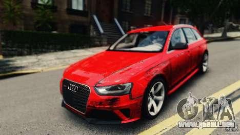 Audi RS4 Avant 2013 v2.0 para GTA 4 visión correcta