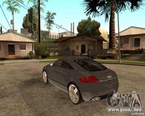 Audi TTS Coupe V1.1 para GTA San Andreas vista posterior izquierda