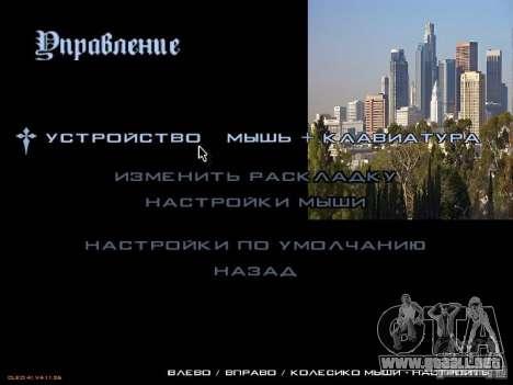 Nuevo menú al estilo de Los Ángeles para GTA San Andreas tercera pantalla