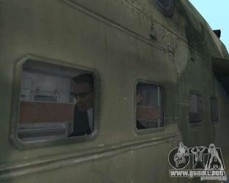 Mi-24P para vista lateral GTA San Andreas
