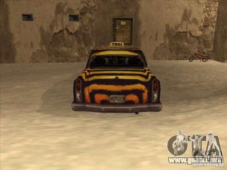 Taxi cebra de Vice City para la visión correcta GTA San Andreas