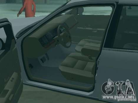 Ford Crown Victoria para vista inferior GTA San Andreas