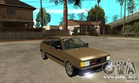 VW Gol GL 1.8 1989 para GTA San Andreas vista hacia atrás