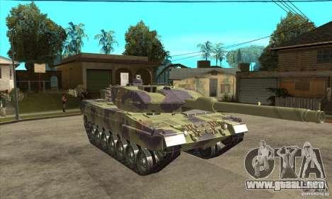 Leopard 2 A6 para GTA San Andreas vista hacia atrás
