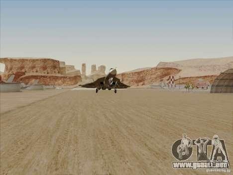 T-50 Pak Fa para la vista superior GTA San Andreas