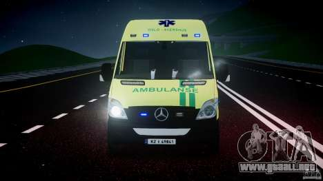 Mercedes-Benz Sprinter PK731 Ambulance [ELS] para GTA 4 vista superior