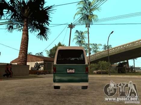 VW T1 Samba para GTA San Andreas vista posterior izquierda