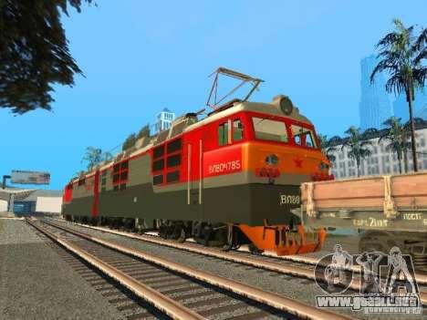 Vl80m-1785 ferrocarriles rusos para GTA San Andreas vista posterior izquierda